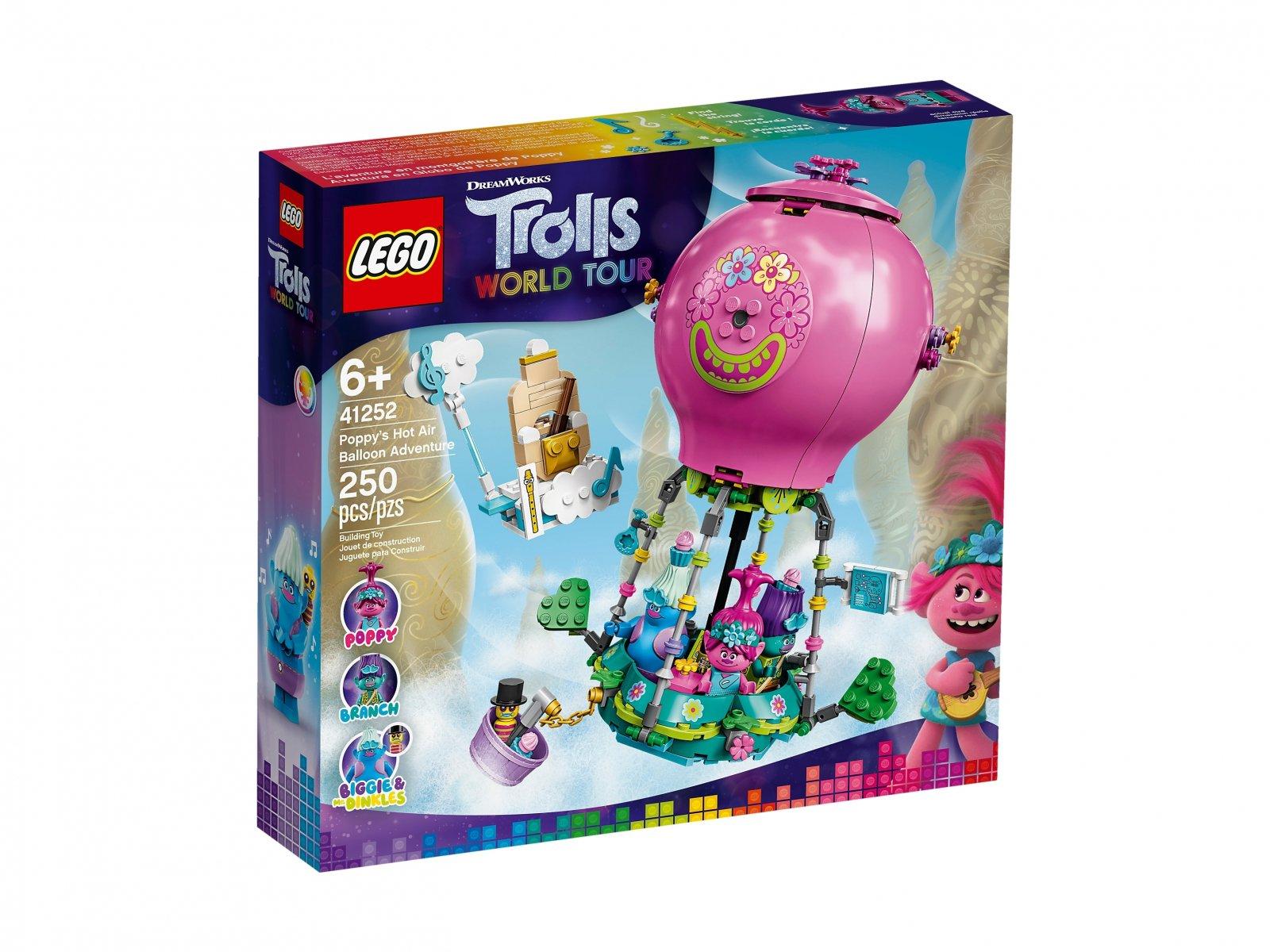 LEGO 41252 Trolls World Tour Przygoda Poppy w balonie