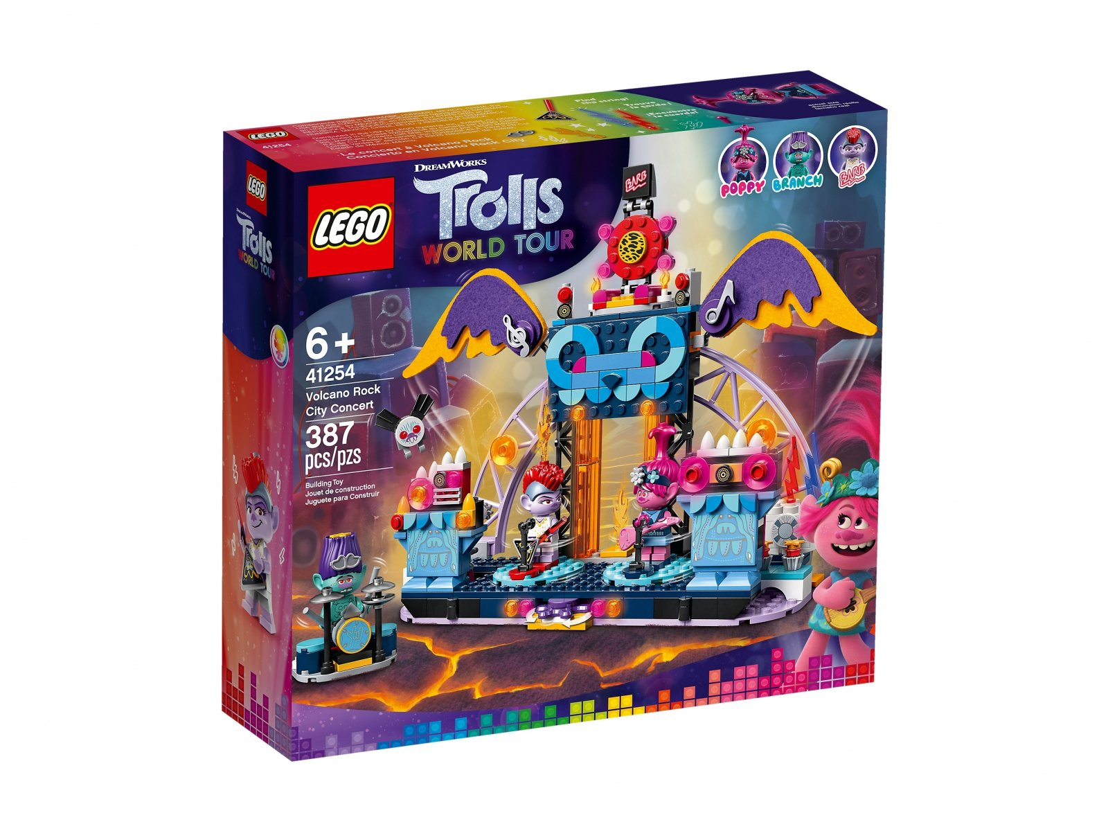 LEGO Trolls World Tour Koncert w Volcano Rock City 41254