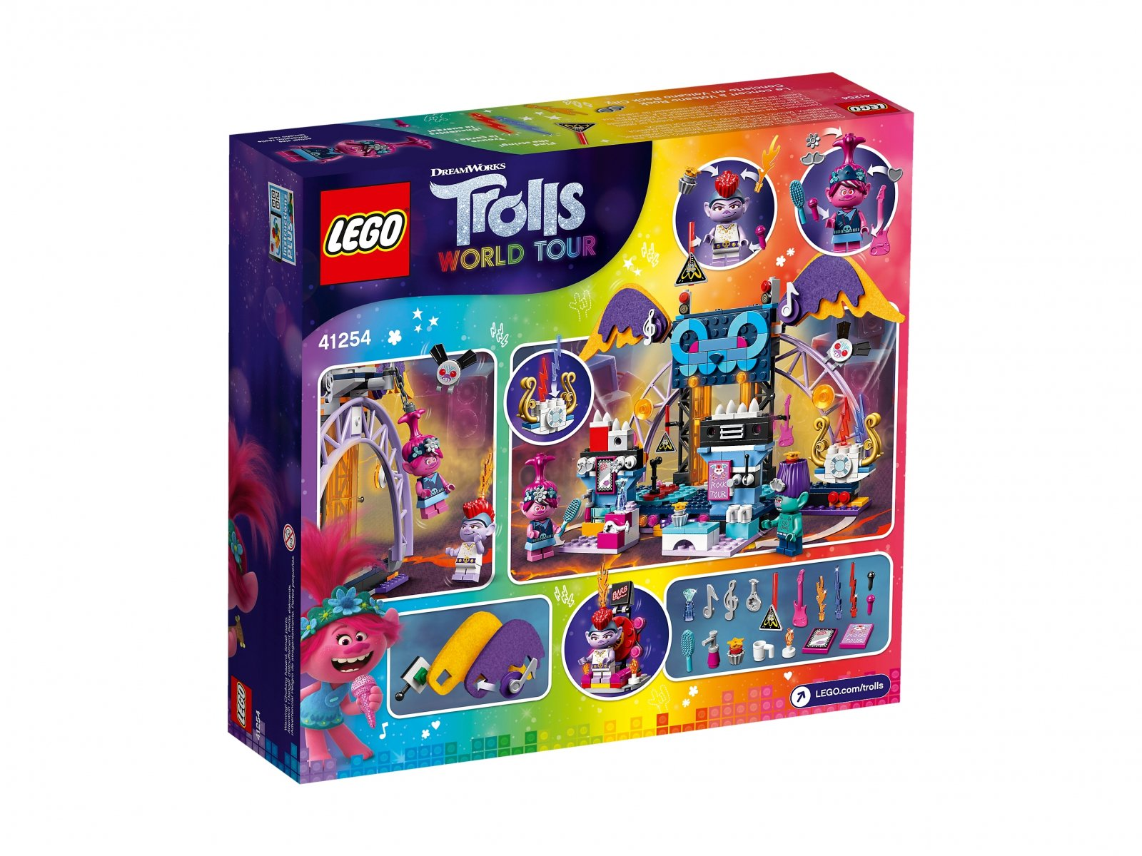 LEGO 41254 Trolls World Tour Koncert w Volcano Rock City