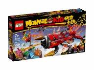 LEGO 80019 Monkie Kid Piekielny odrzutowiec Red Sona