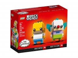 LEGO BrickHeadz Homer Simpson i Klaun Krusty 41632