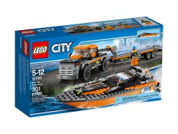 LEGO 60085 Terenówka z motorówką