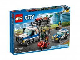 LEGO City Skok na transporter samochodów 60143