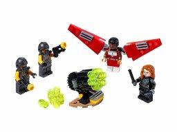 LEGO Marvel Avengers 40418 Falcon i Czarna Wdowa ruszają do ataku
