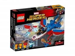 LEGO 76076 Marvel Super Heroes Odrzutowiec Kapitana Ameryki