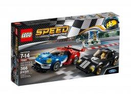 LEGO Speed Champions 75881 Ford GT z roku 2016 i Ford GT40 z roku 1966