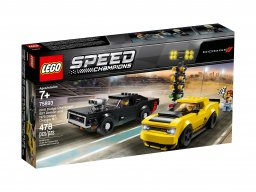 LEGO Speed Champions 2018 Dodge Challenger SRT Demon oraz 1970 Dodge Charger R/T 75893