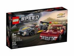 LEGO Speed Champions Samochód wyścigowy Chevrolet Corvette C8.R i 1968 Chevrolet Corv 76903
