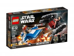 LEGO 75196 Star Wars™ A-Wing™ kontra TIE Silencer™