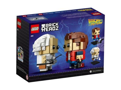 Opakowanie klocków Lego BrickHeadz Marty McFly & Doc Brown 41611