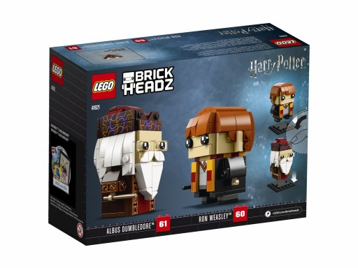 Opakowanie klocków Lego BrickHeadz Ron Weasley™ i Albus Dumbledore™ 41621