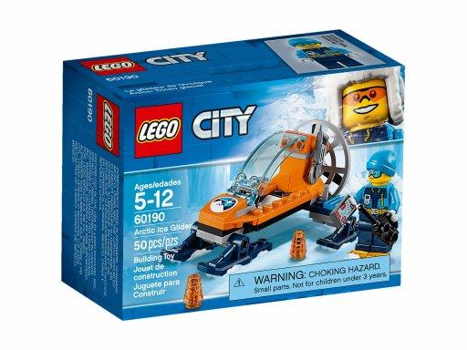 Opakowanie klocków Lego 60190 City Arktyczny ślizgacz