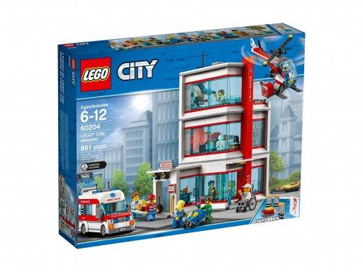 Opakowanie zestawu klocków Lego City Szpital