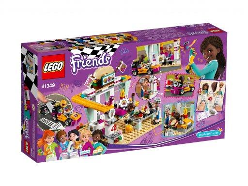 Opakowanie klocków Lego Friends Wyścigowa restauracja 41349