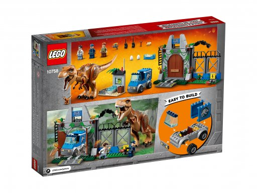 Opakowanie zestawu Lego Juniors T. rex na wolności 10758