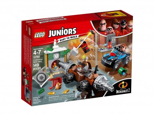 Opakowanie zestawu klocków Lego 10760 Napad Człowieka Szpadla na bank