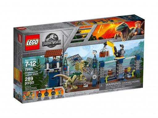 Opakowanie zestawu klocków Lego Jurassic World™ 75931 Atak dilofozaura na posterunek